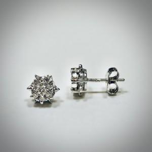 Pendientes chatón diamantes