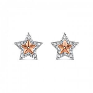 Pendientes estrella diamantes